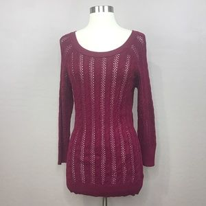 SO Knitted Pullover Scoop Neck Sweater